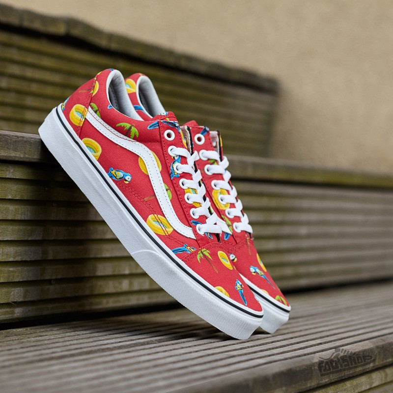c6649681a7 Vans Old Skool (Pool Vibes) Racing Red True White