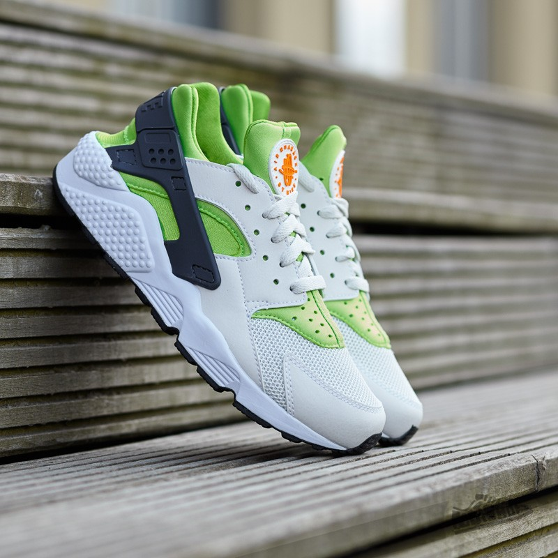 5c2e271f6712 Nike Air Huarache Action Green  Vivid Orange-Phantom-White ...