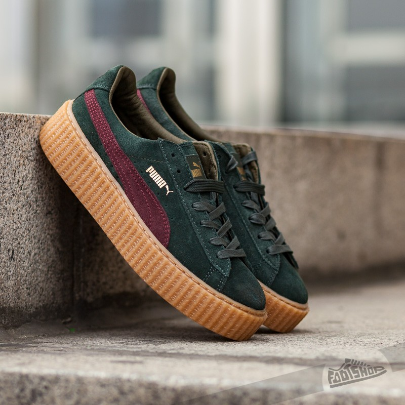 best website ae762 b7dba Puma x Rihanna Suede Creepers Green/ Bordeaux/ Gum | Footshop