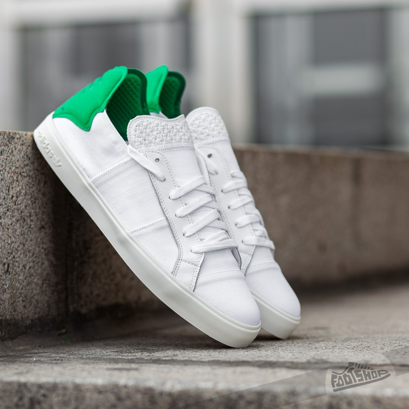 4278be4554d78 adidas Elastic Lace Up Pharrell Williams Ftw White  Ftw White  Green ...