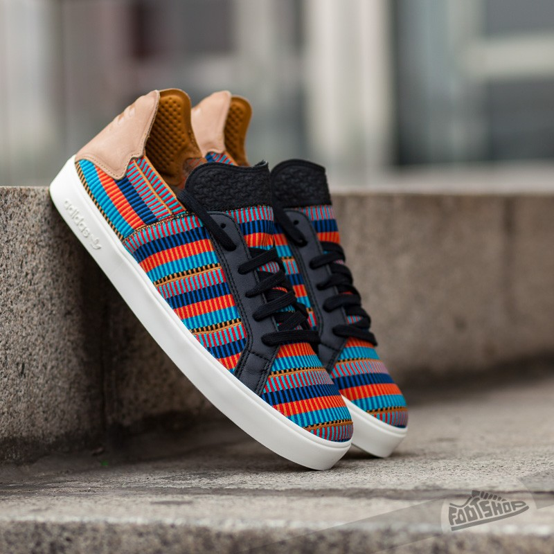 bb9129ea0864f adidas Elastic Lace Up Pharrell Williams Core Black  Equipment Blue  Color  Red