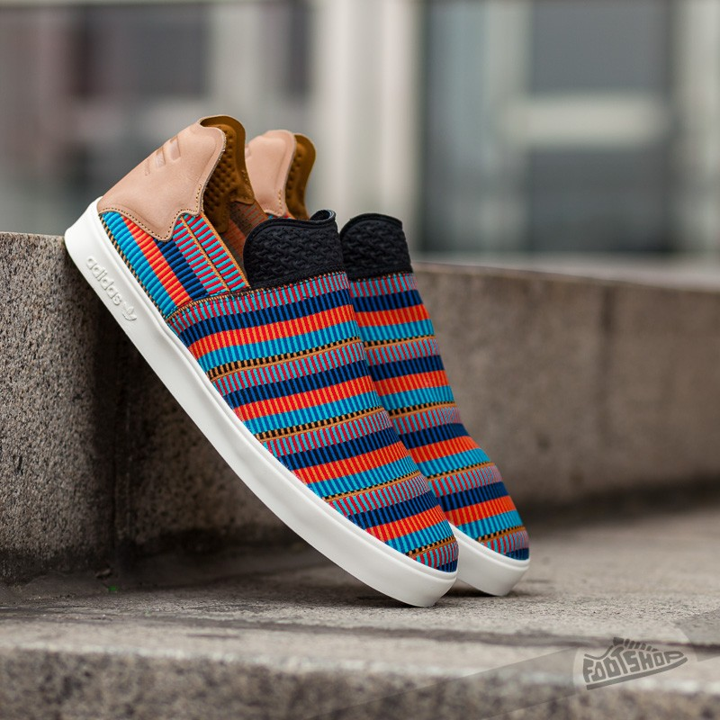 new arrival 193bc 001a3 adidas Elastic Slip On Pharrell Williams Core Black/ Equipment Blue/ Color  Red