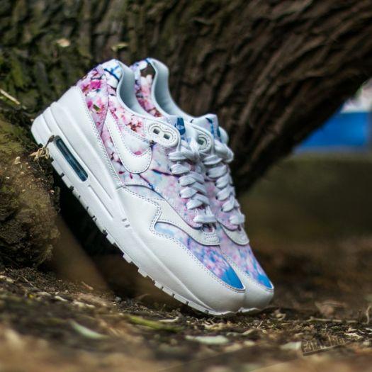 Nike W Air Max 1 Print (Cherry Blossom) White White University Blue | Footshop