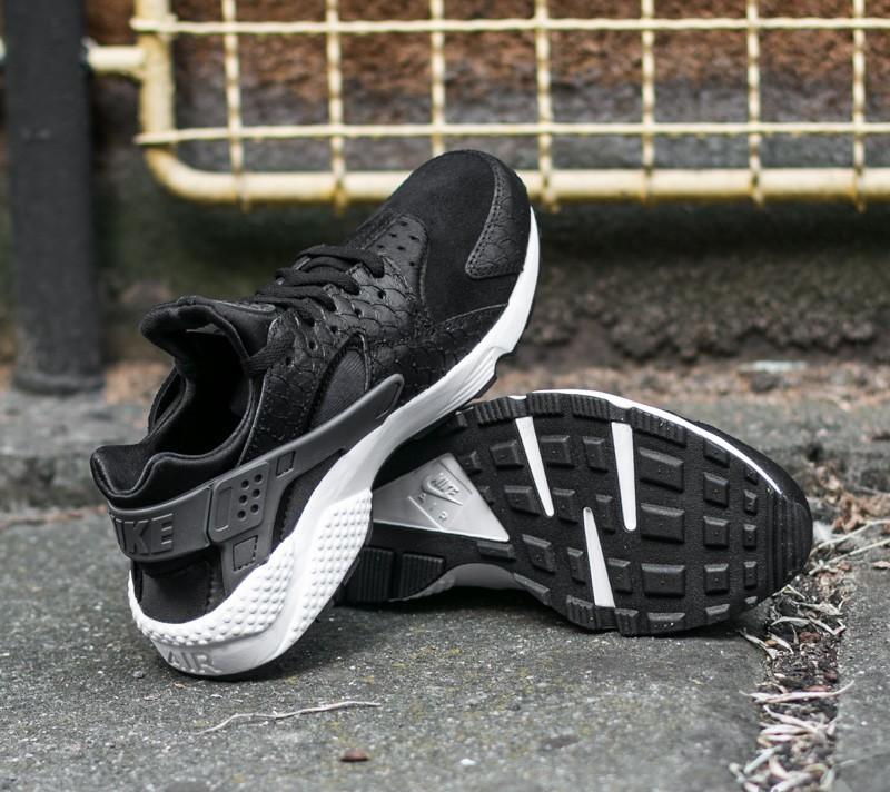 Nike Air Huarache Run Premium Black Dark Grey White 704830001