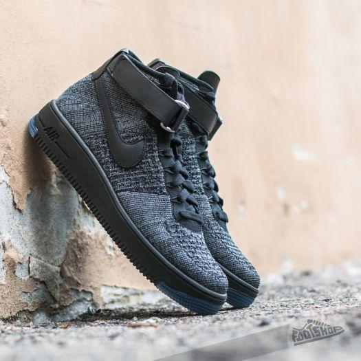 Nike Air Force 1 Ultra Flyknit Mid Dark Grey Black | Footshop