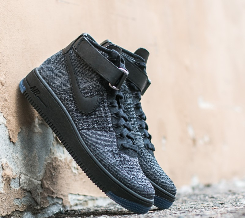 9f2c349a43fd Nike Air Force 1 Ultra Flyknit Mid Dark Grey  Black