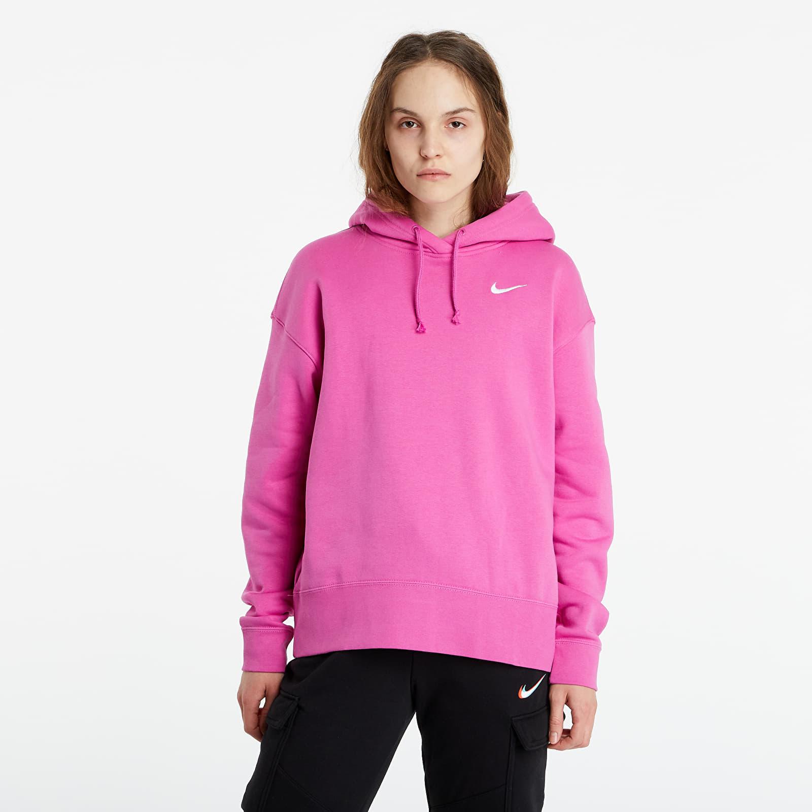 Levně Nike Sportswear Women's Fleece Hoodie Active Fuchsia/ White