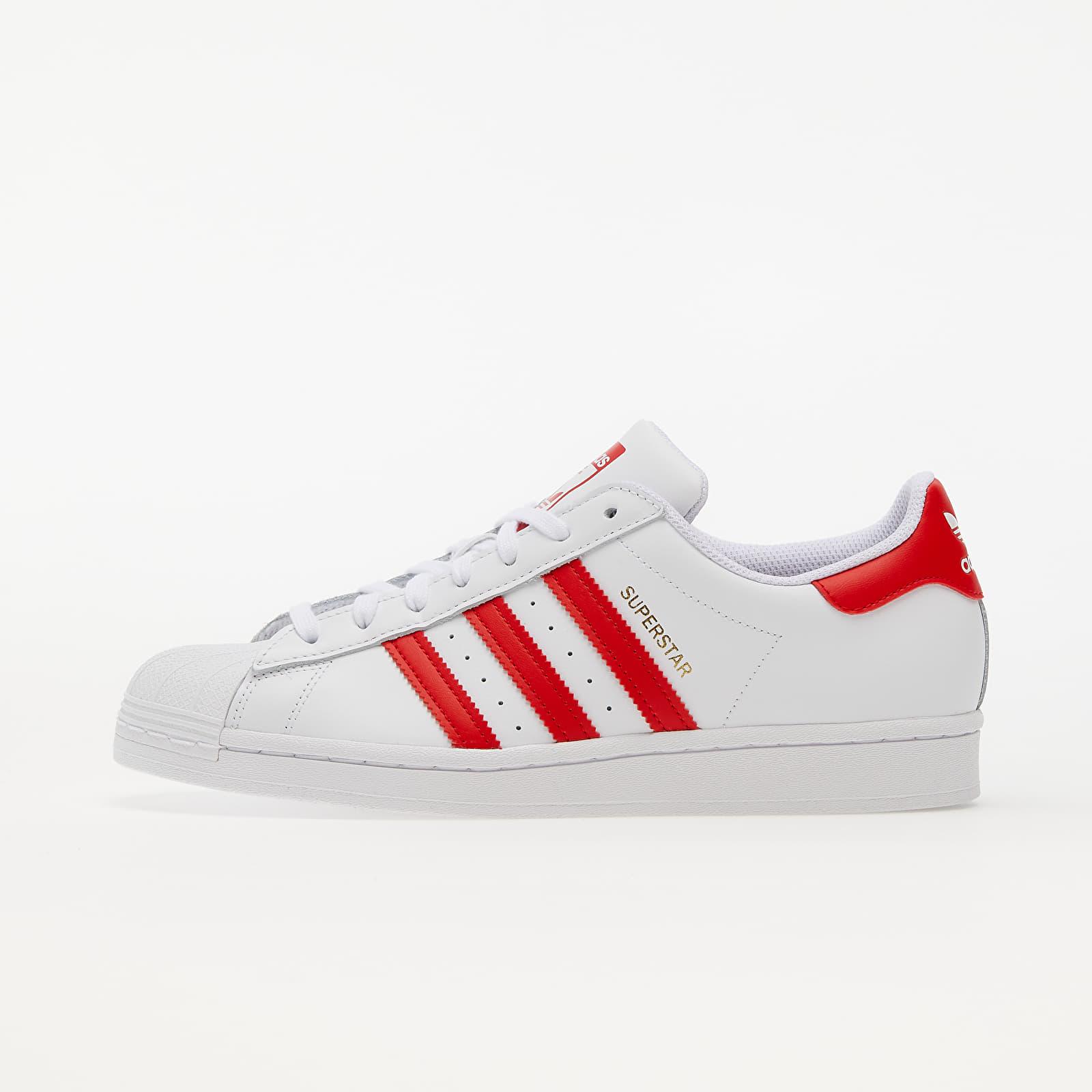 adidas Superstar Ftwr White/ Vivid Red/ Gold Met. EUR 42