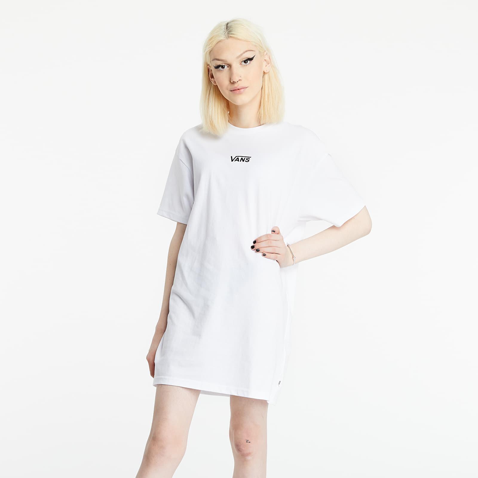 Vans Center Vee Tee Dress White   Footshop