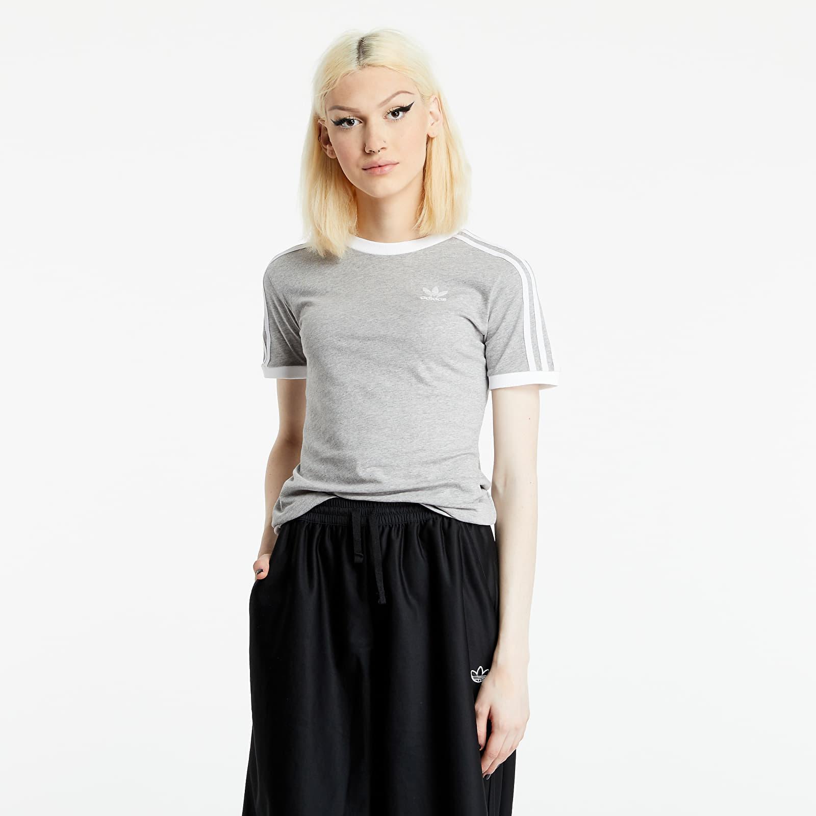 adidas Originals Adicolor Classics 3-Stripes Tee Medium Grey Heather S/34