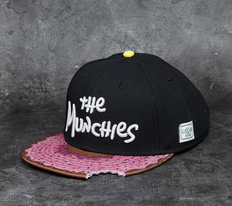 Cayler   Sons GL Munchies Classic Cap Black  Pink Donut  6f560e8a269