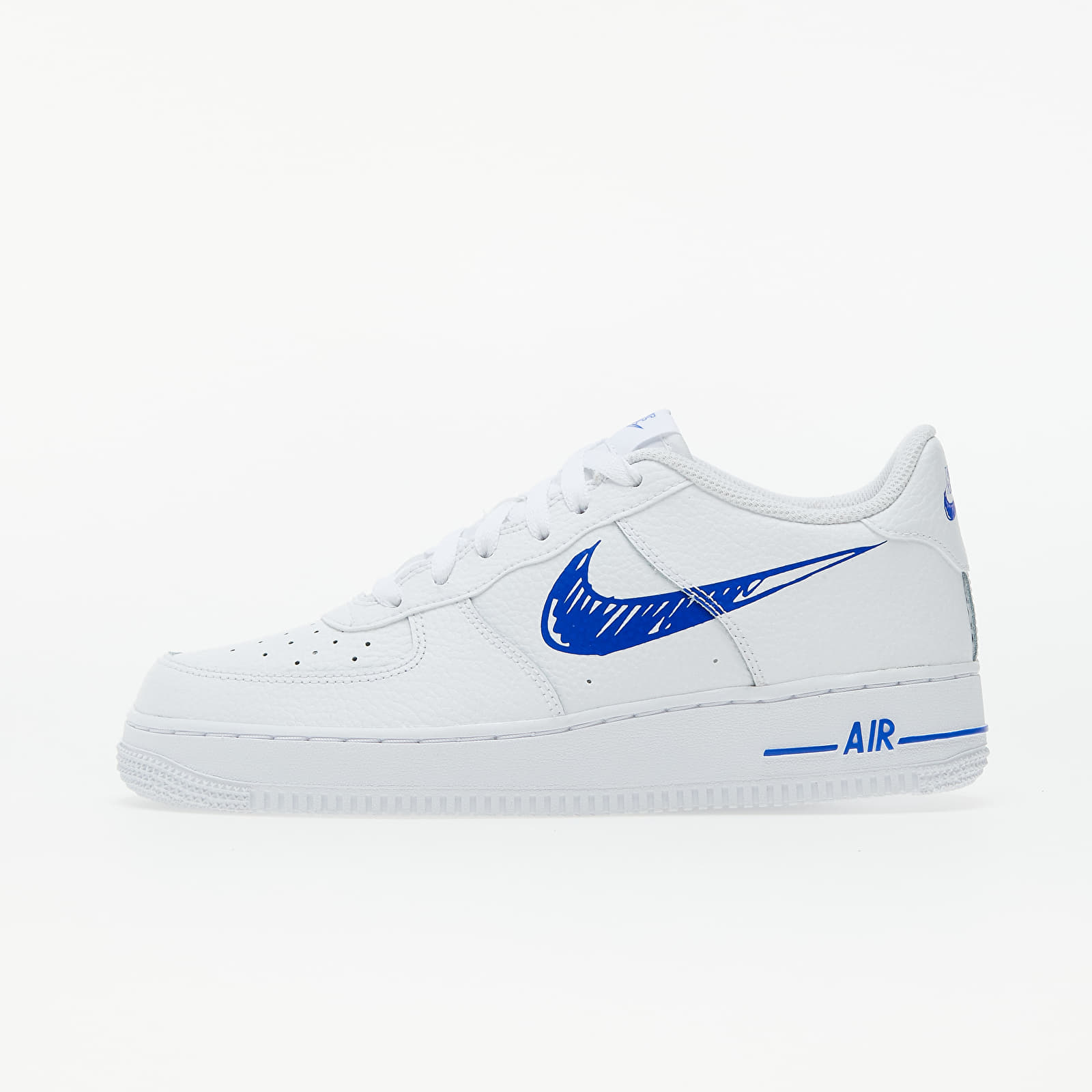 Nike Air Force 1 Low GS White/ Racer Blue-White EUR 37.5