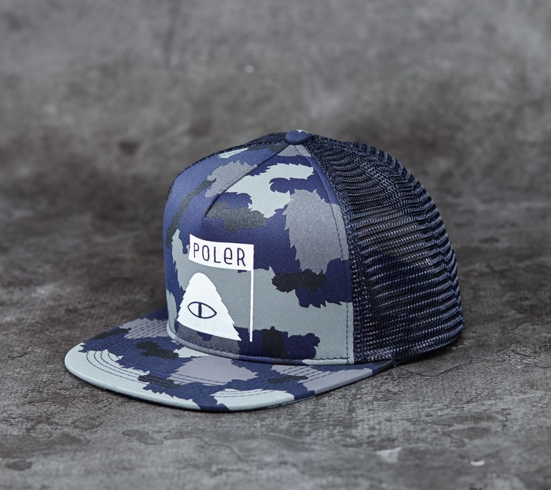 9f1ac2ba760 Poler Summit Mesh Trucker Blue Steel Camo