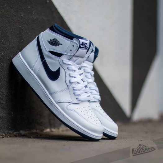 France Hommes Air Jordan 1 Retro Low Og WhiteMidnight Navy