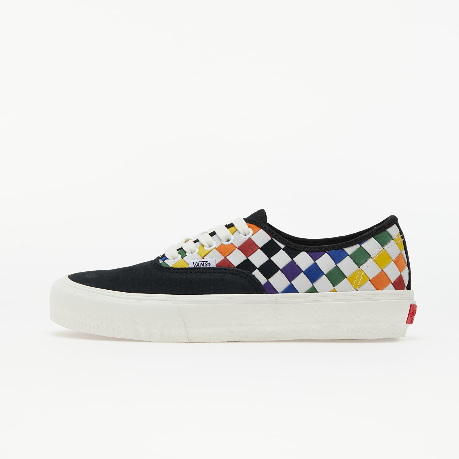 Vans Vault Authentic LX (Pride) Woven Leather/ Rainbow/ Marshmallo   Footshop
