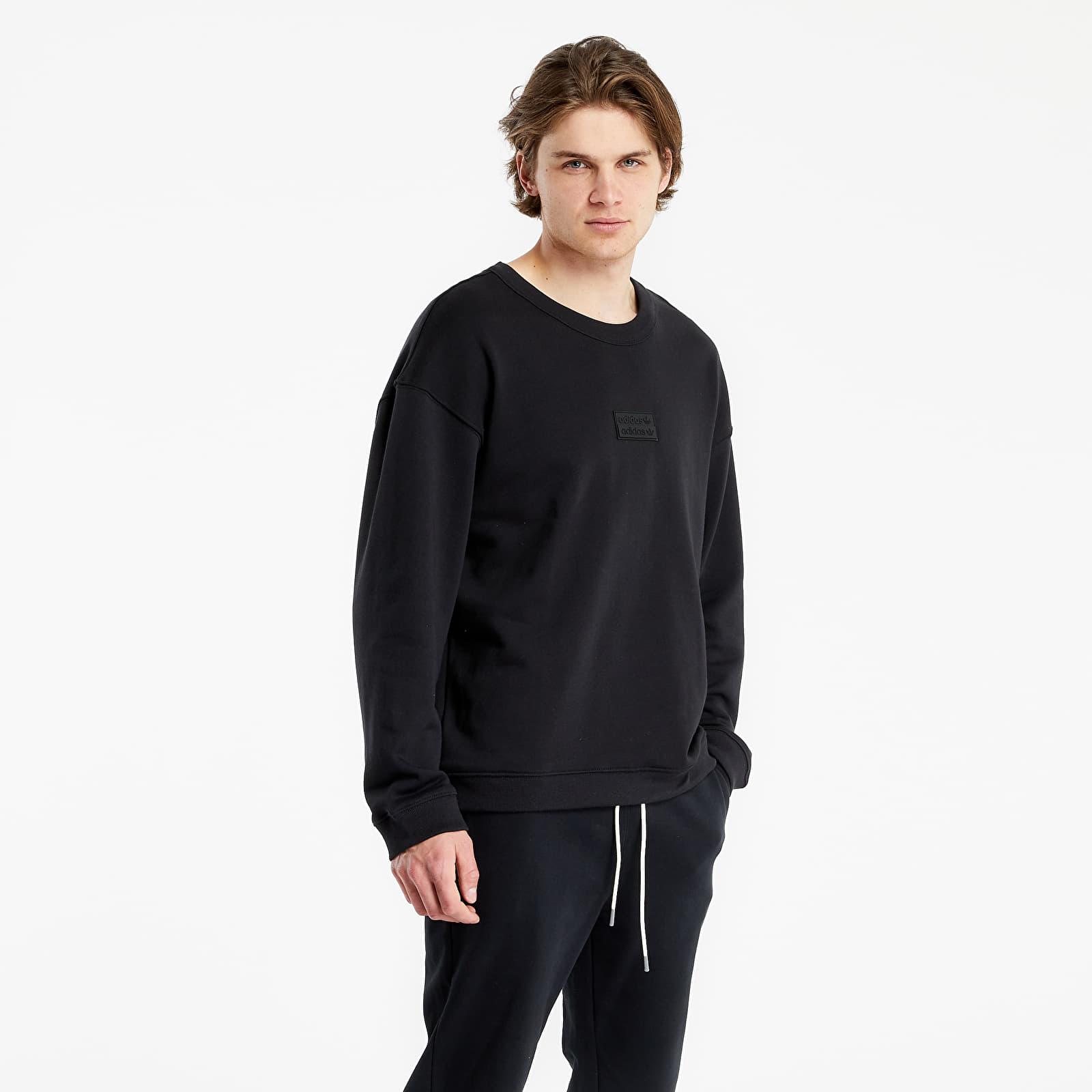 adidas Originals R.Y.V. Silicone Double Linear Badge Crew Sweatshirt Black S