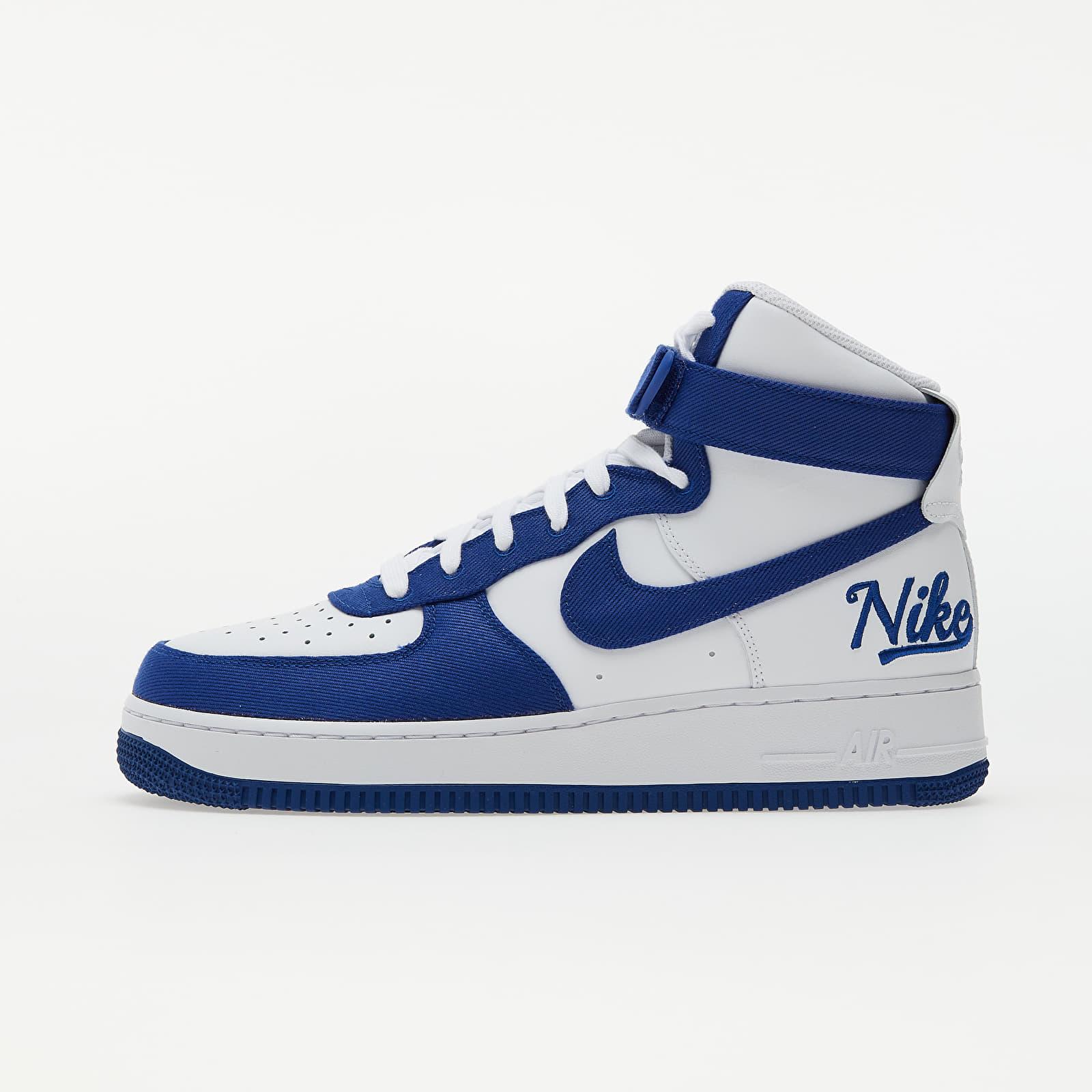Nike Air Force 1 High '07 LV8 Emb White/ Rush Blue-Rush Blue-White EUR 44