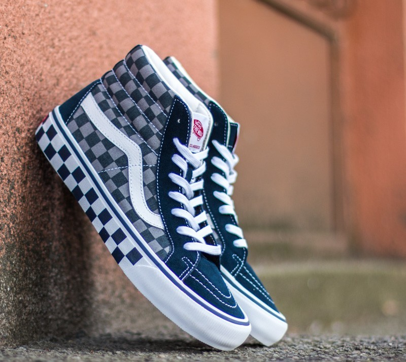 1410dba3db98 Vans Sk8-Hi Pro (50th)  83 Checker  Blue  Grey