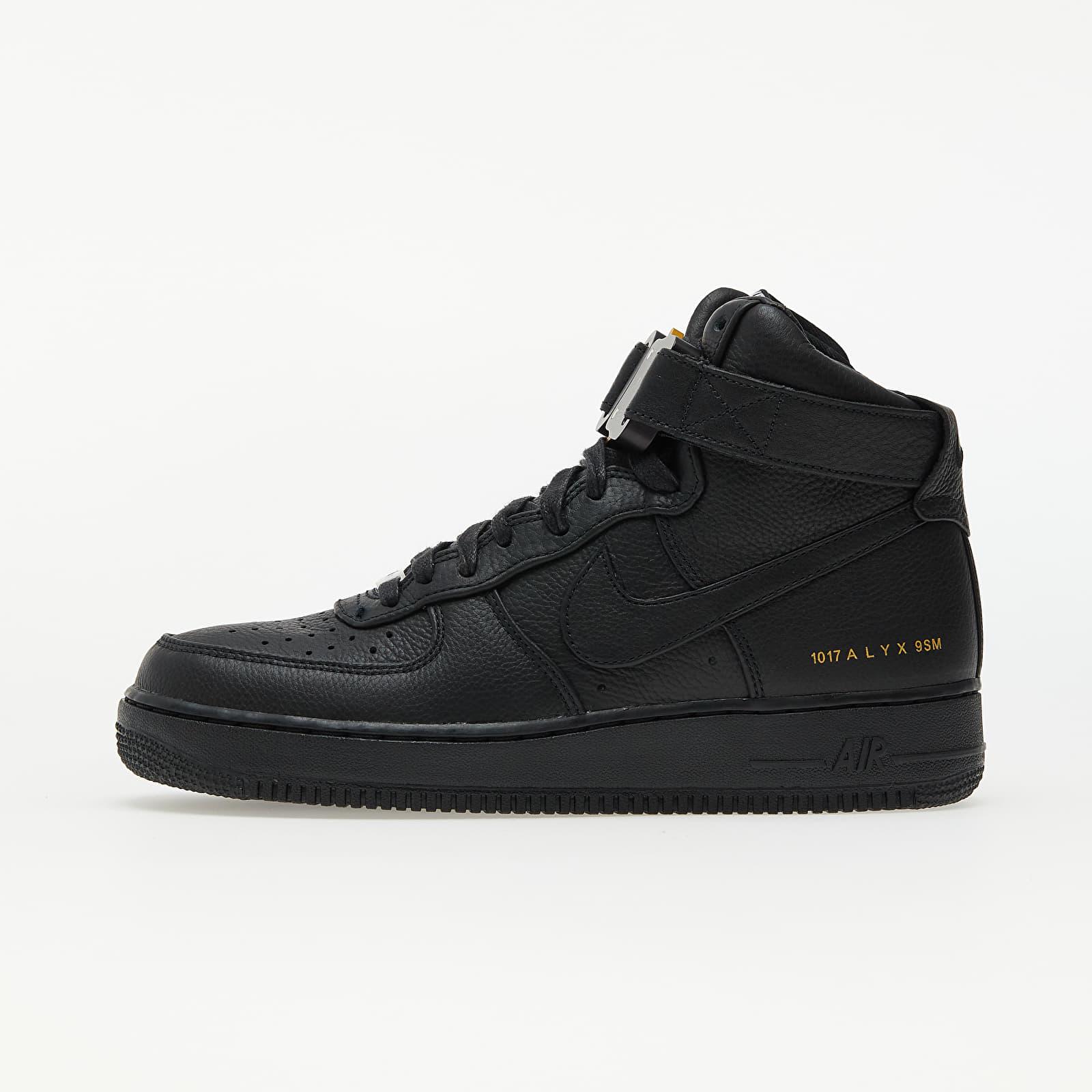Nike x ALYX Air Force 1 High Black/ Black/ Metallic Gold EUR 38