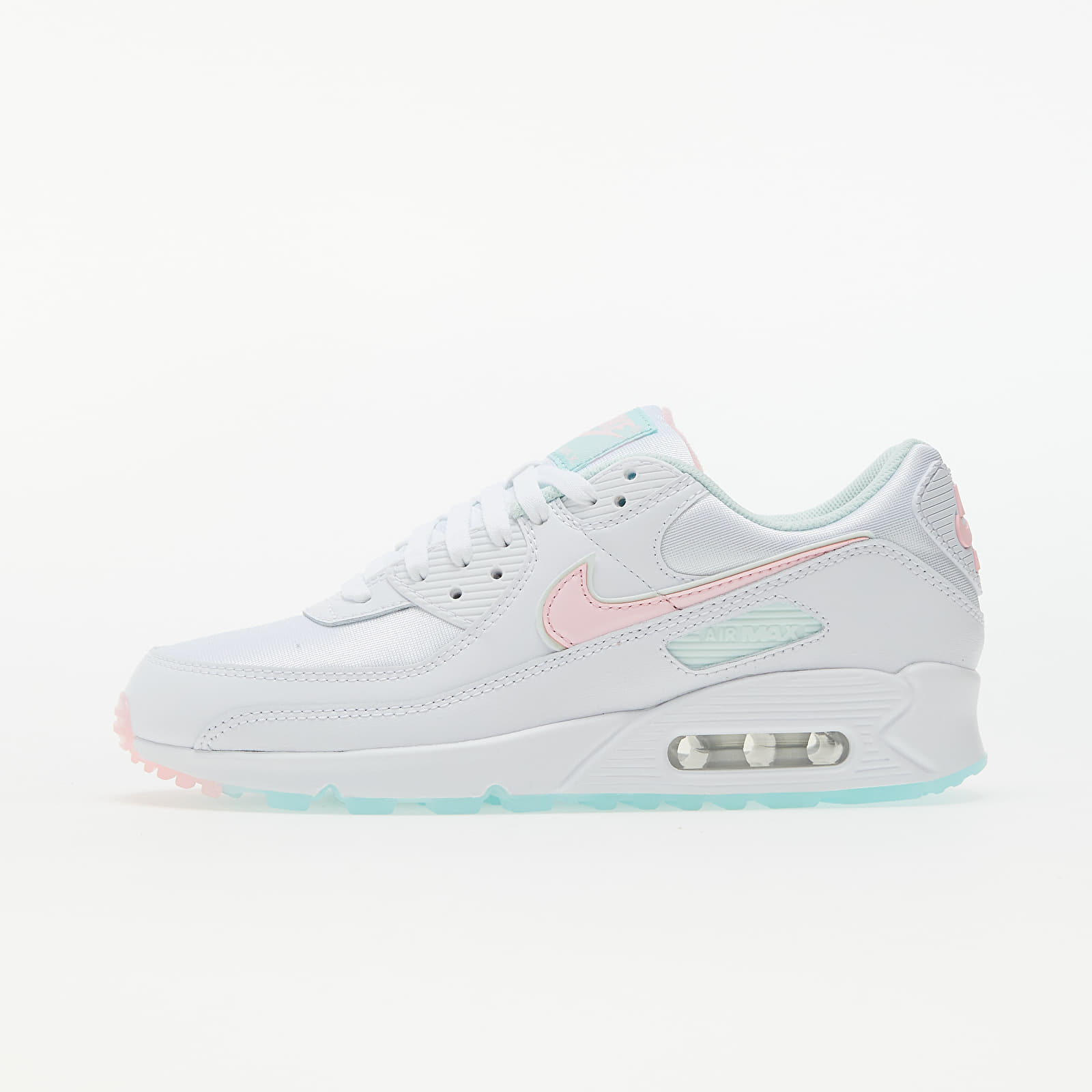 Nike W Air Max 90 White/ Arctic Punch-Barely Green   Footshop