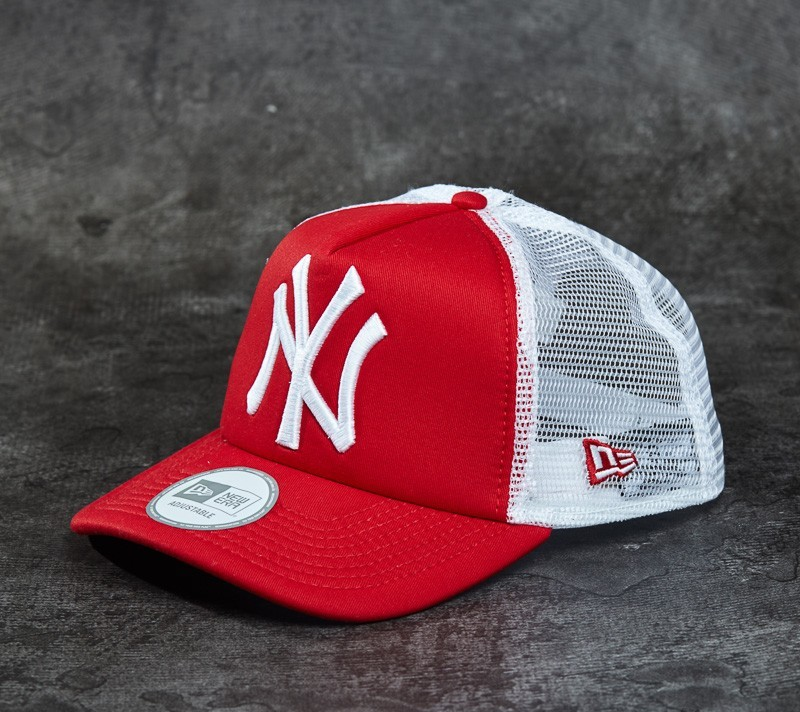 New Era Cap Clean Trucker New York Yankees Scarlet  White ... 8aed551117c