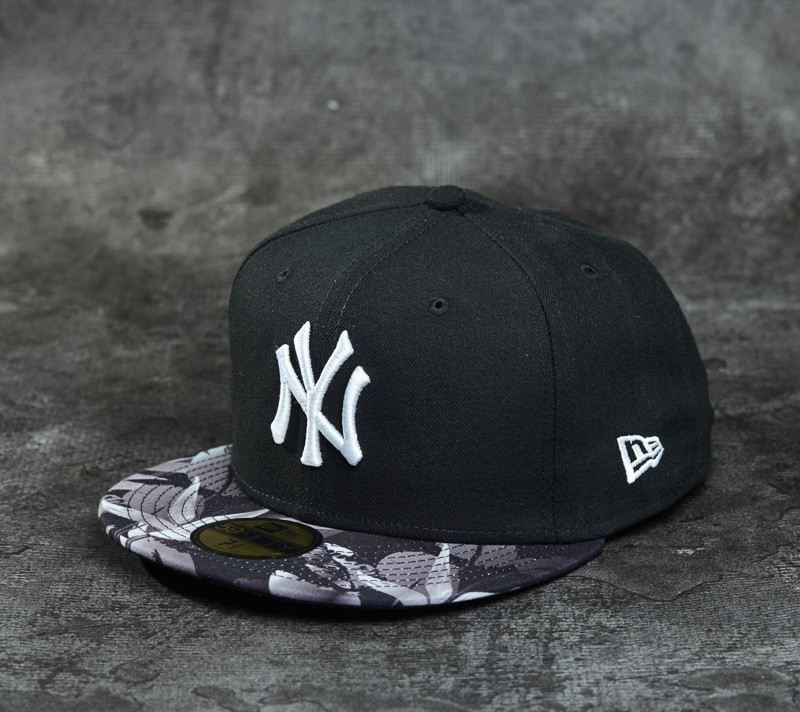 new product f982d b7e1f New Era 59Fifty Birds of Paradise New York Yankees Black  Grey  White