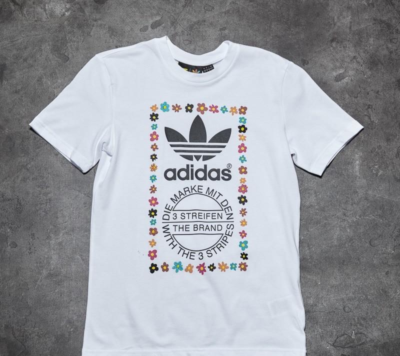 4d84e76667301 adidas Pharrell Williams Graphic Tee 2 White  Black