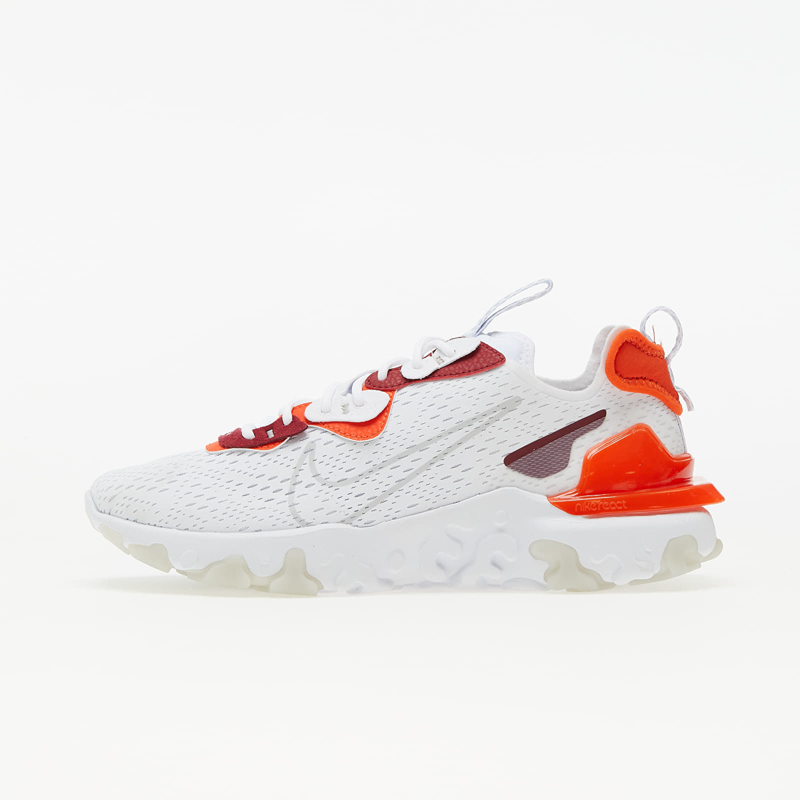 Nike React Vision White/ Lt Smoke Grey-Team Orange-Team Red | Footshop