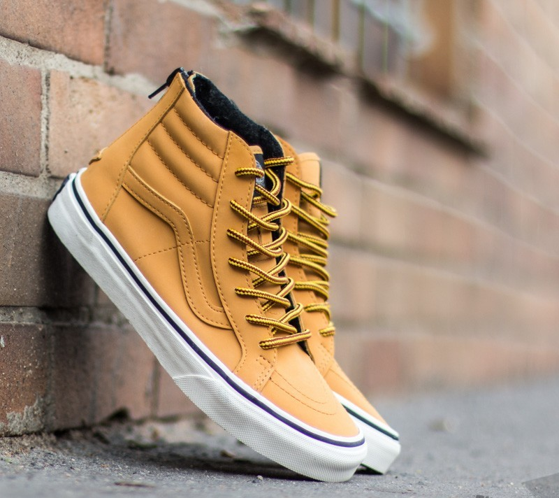 44a8ceba93b Vans Sk8-Hi (MTE) Honey  Leather