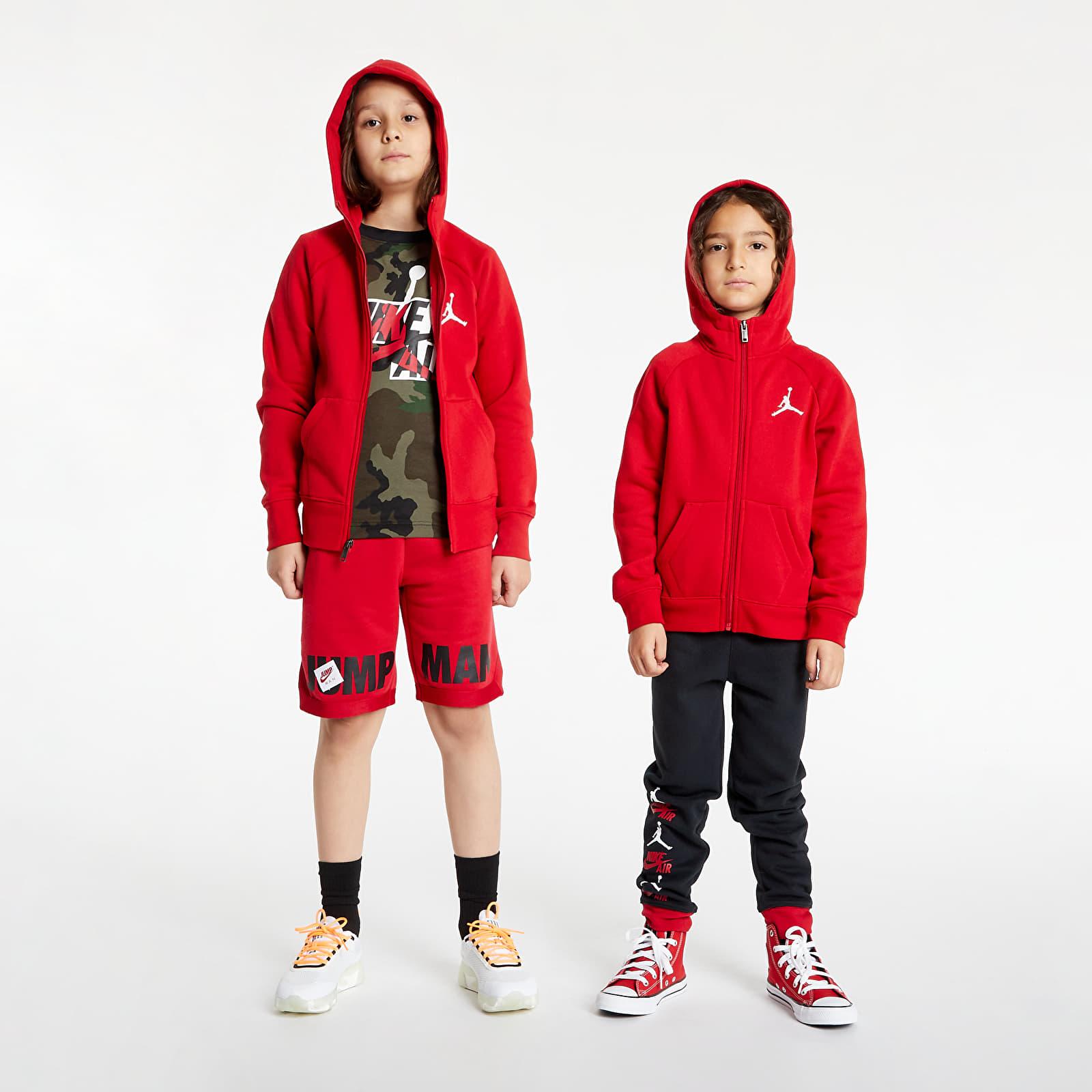Air Jordan Jumpman Fleece FZ Hoodie Red 5-6Y