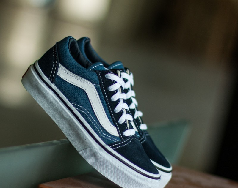 Vans Kids Old Skool Navy/ True White, Blue