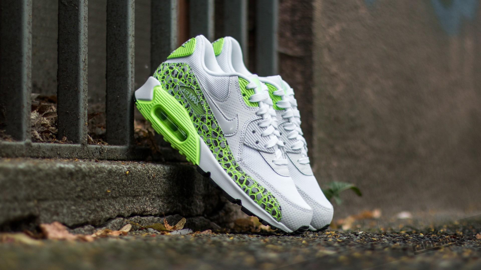 nike air max 90 premium white green