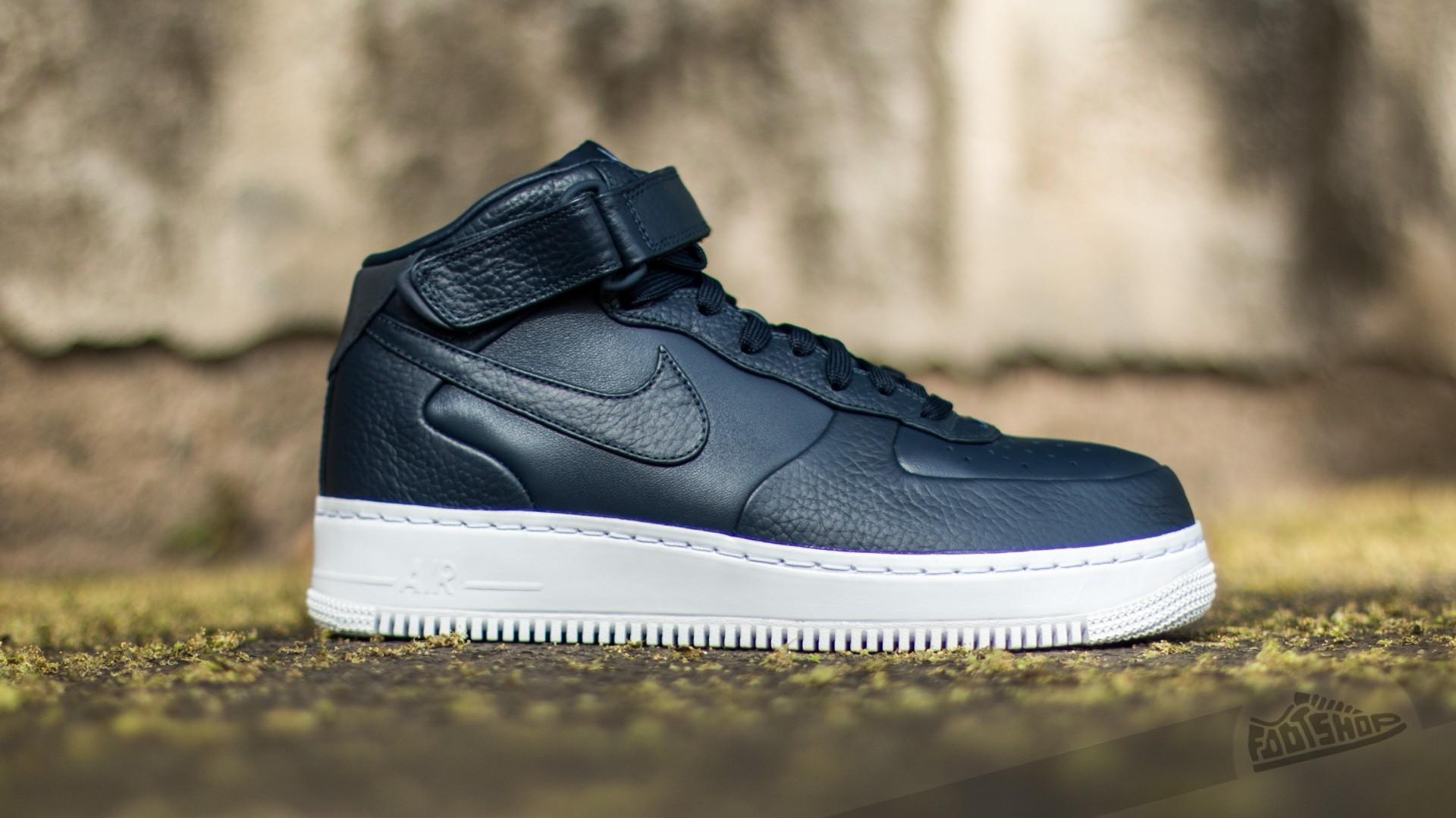 Uomo Nike Air Force 1 Mid ObsidianObsidian White | Hang