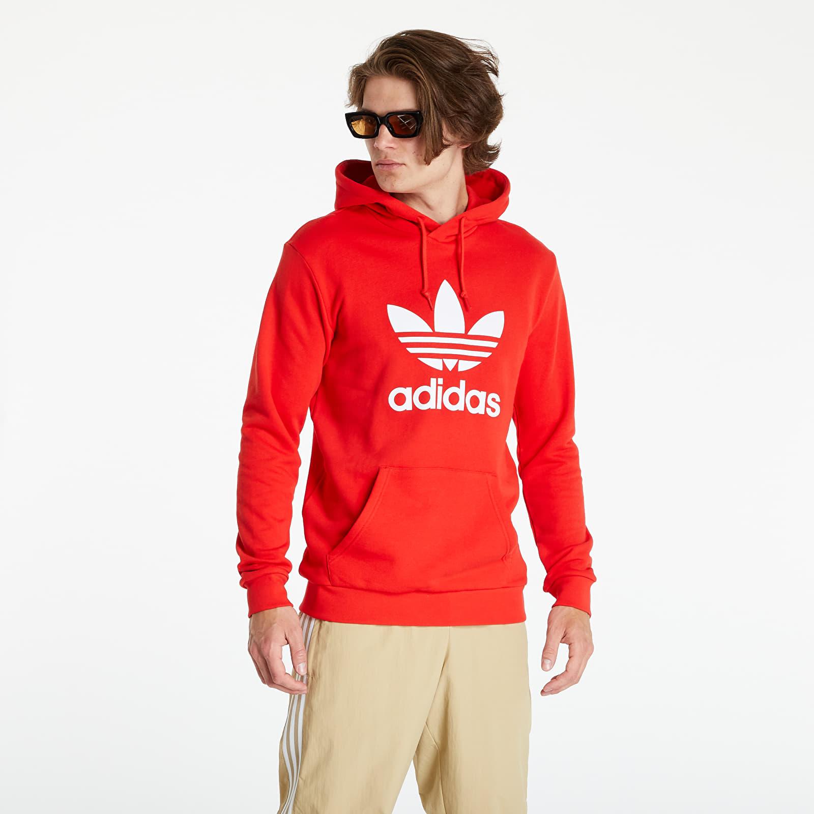 Levně adidas Trefoil Hoody Red/ White