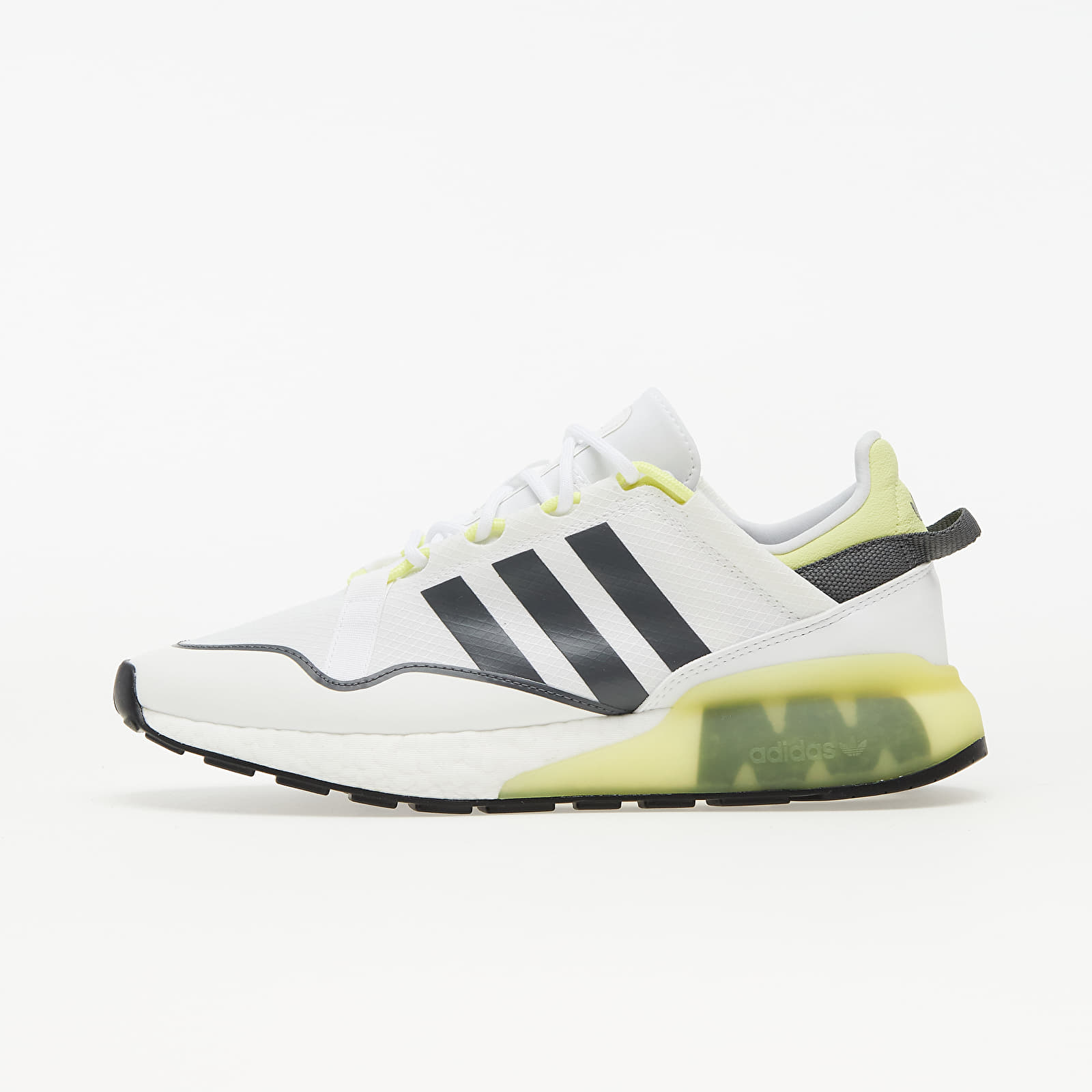 adidas ZX 2K Boost Pure Ftw White/ Grey Five/ Purple Yellow EUR 45 1/3