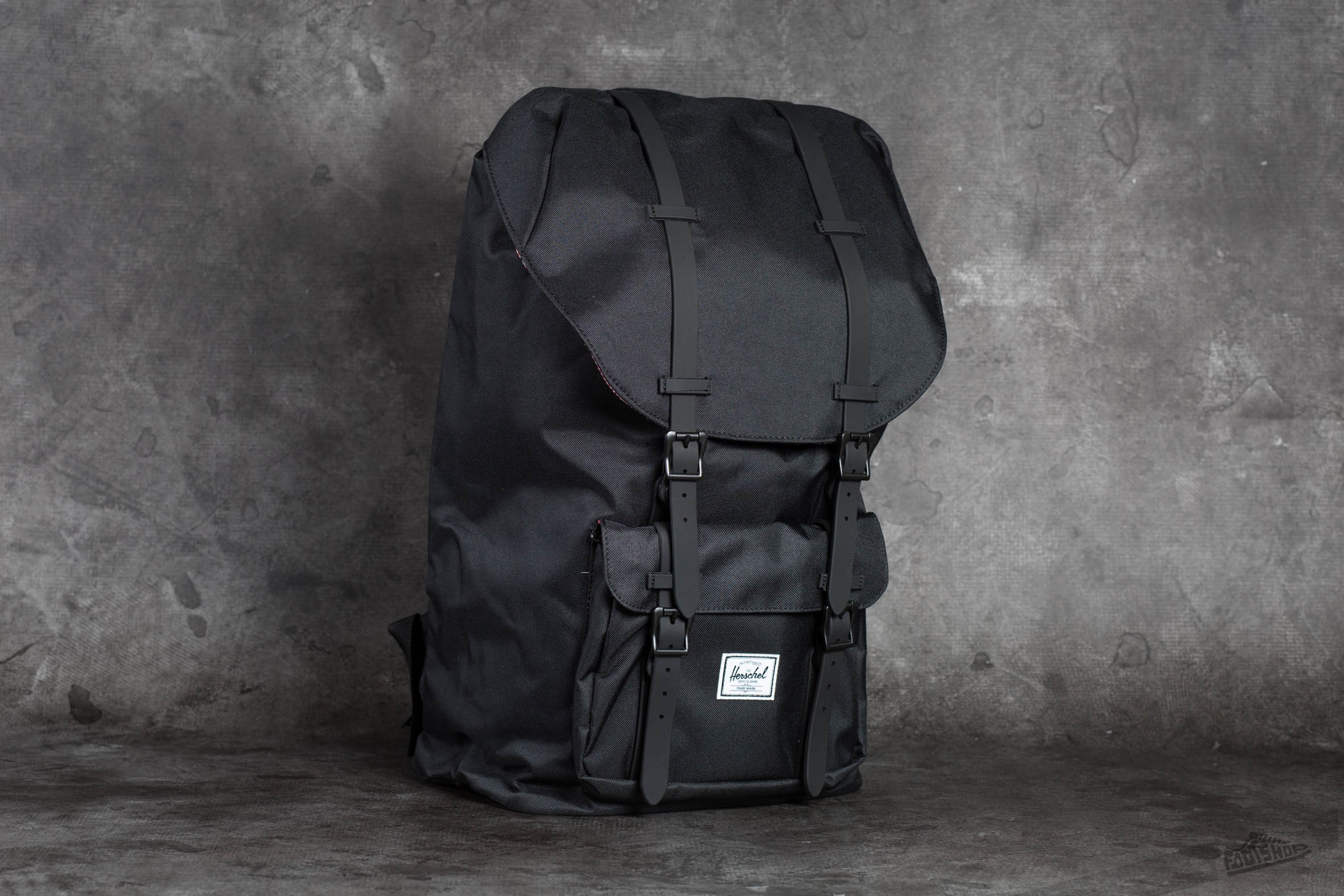 be9dfd383f3 Herschel Supply Co. Little America Black  Black Rubber