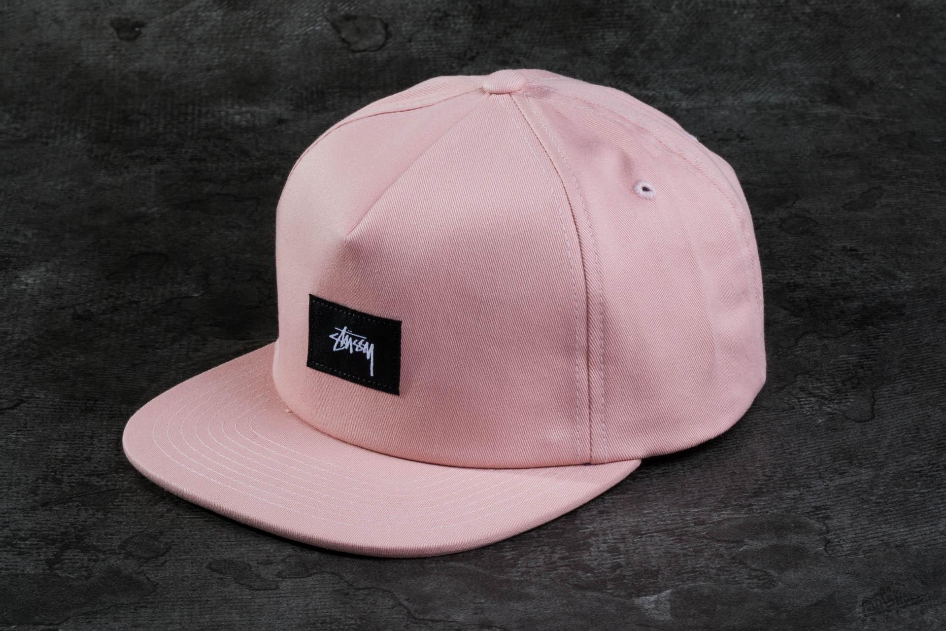 Stüssy Cotton Linen Twill Strapback Light Pink  3f02d5023f5