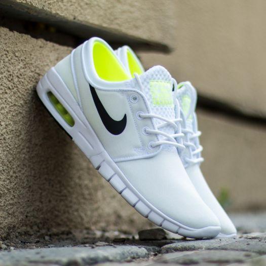 Nike Stefan Janoski Max White Black Volt White | Footshop