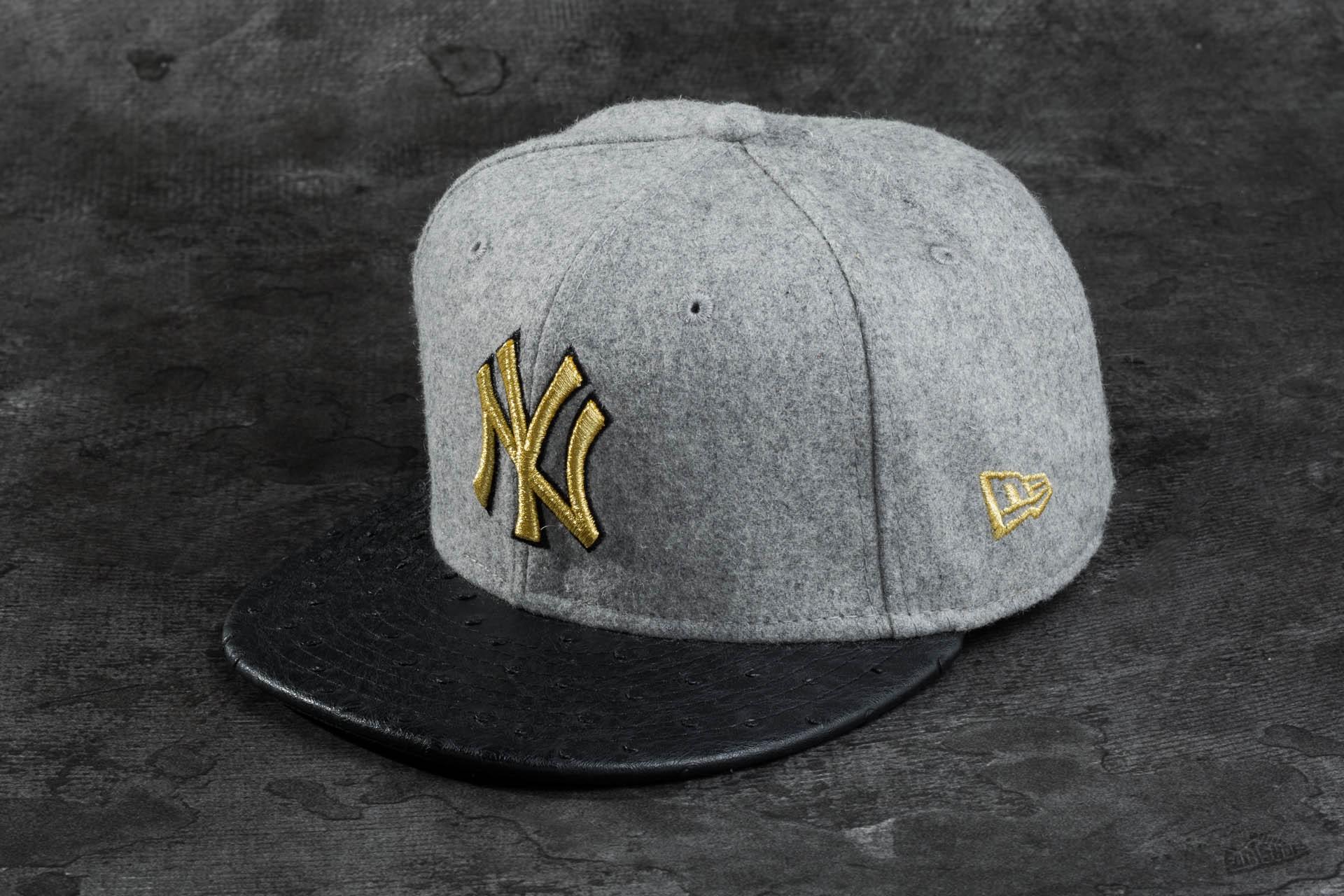 New Era 59FIFTY Melton Metal NY Yankees Grey Black Gold  6f3f3ee0e42