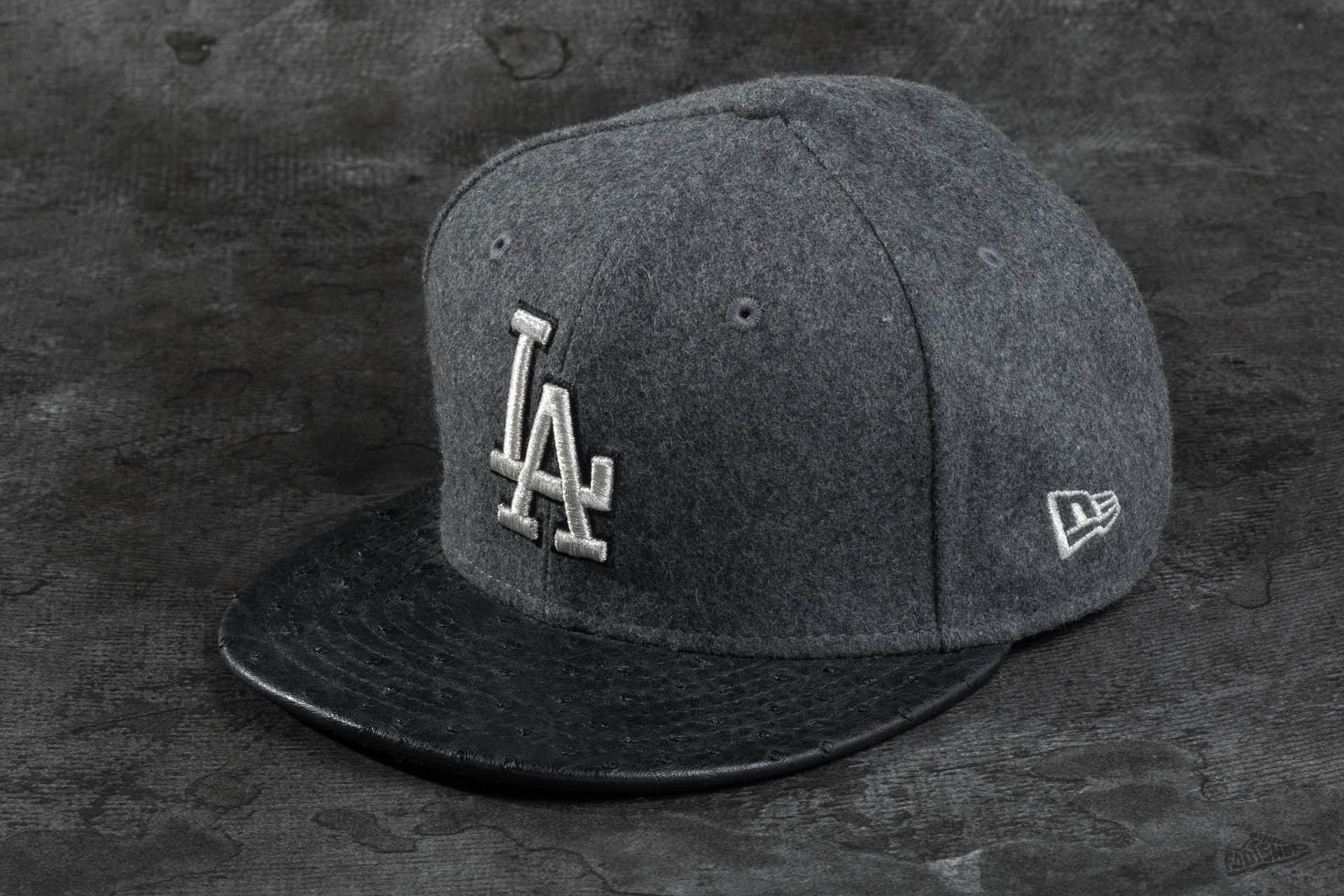 New Era 59FIFTY Melton Metal LA Dodgers Grey Black  c8e6c1ea6d7
