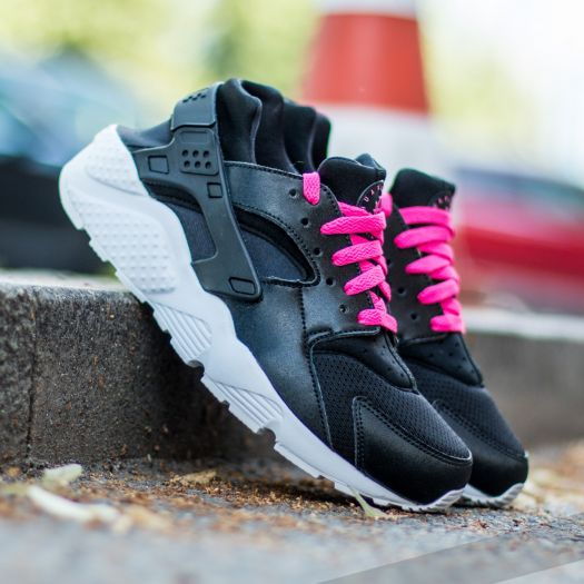 Nike Huarache Run (GS)Black/ White-Pink Blast