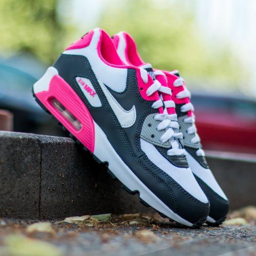 Nike Air Max 90 Mesh GS shoes silver pink