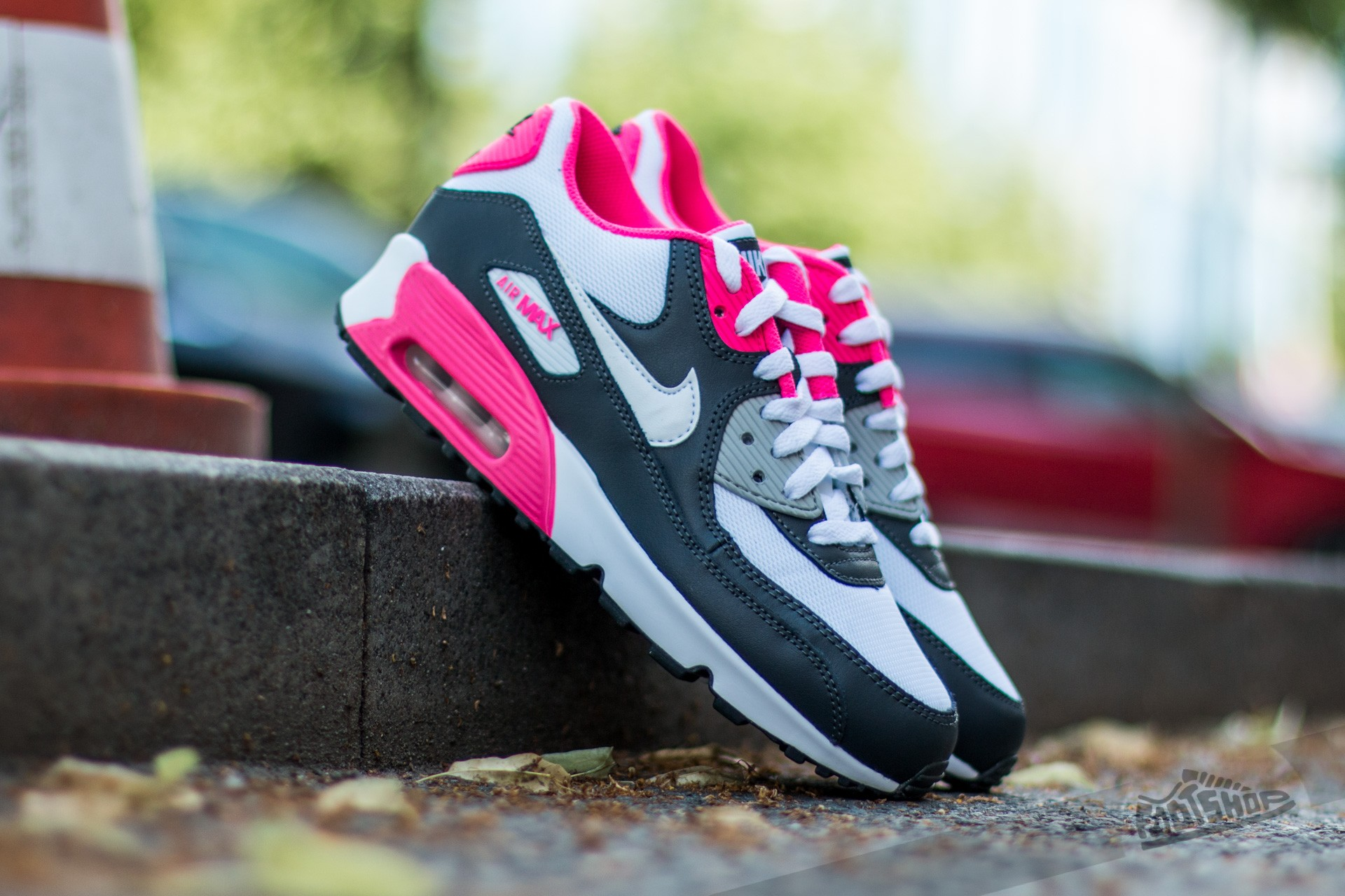 Nike Air Max 90 Mesh (GS) Anthracite White Hyper Pink   Footshop