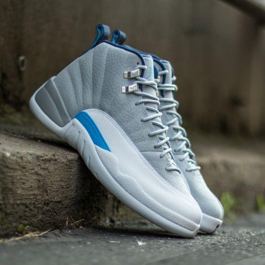 sports shoes 3f5d4 765bd Air Jordan 12 Retro Wolf Grey/ University Blue-White-Midnight ...