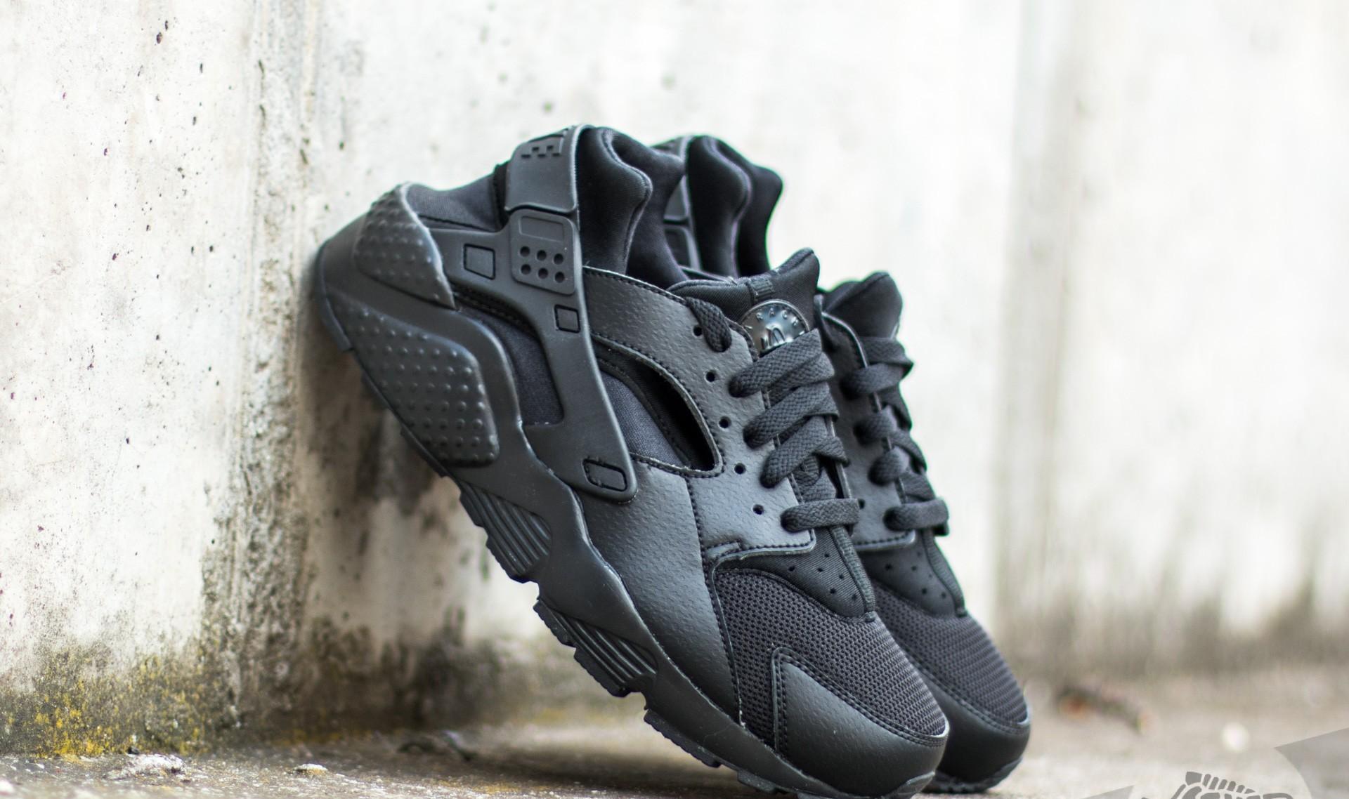 Nike Huarache Run (GS) Black/ Black-Black EUR 40