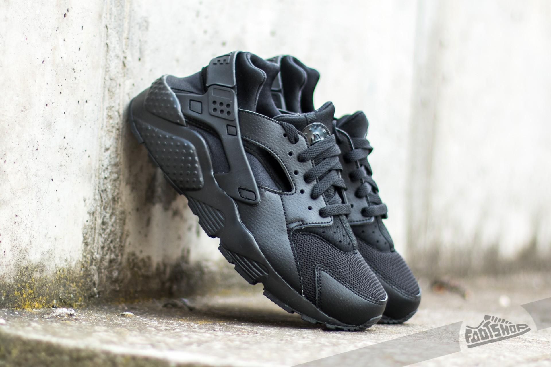 Nike Huarache Run (GS) Black  Black-Black  2ea9443cbd15