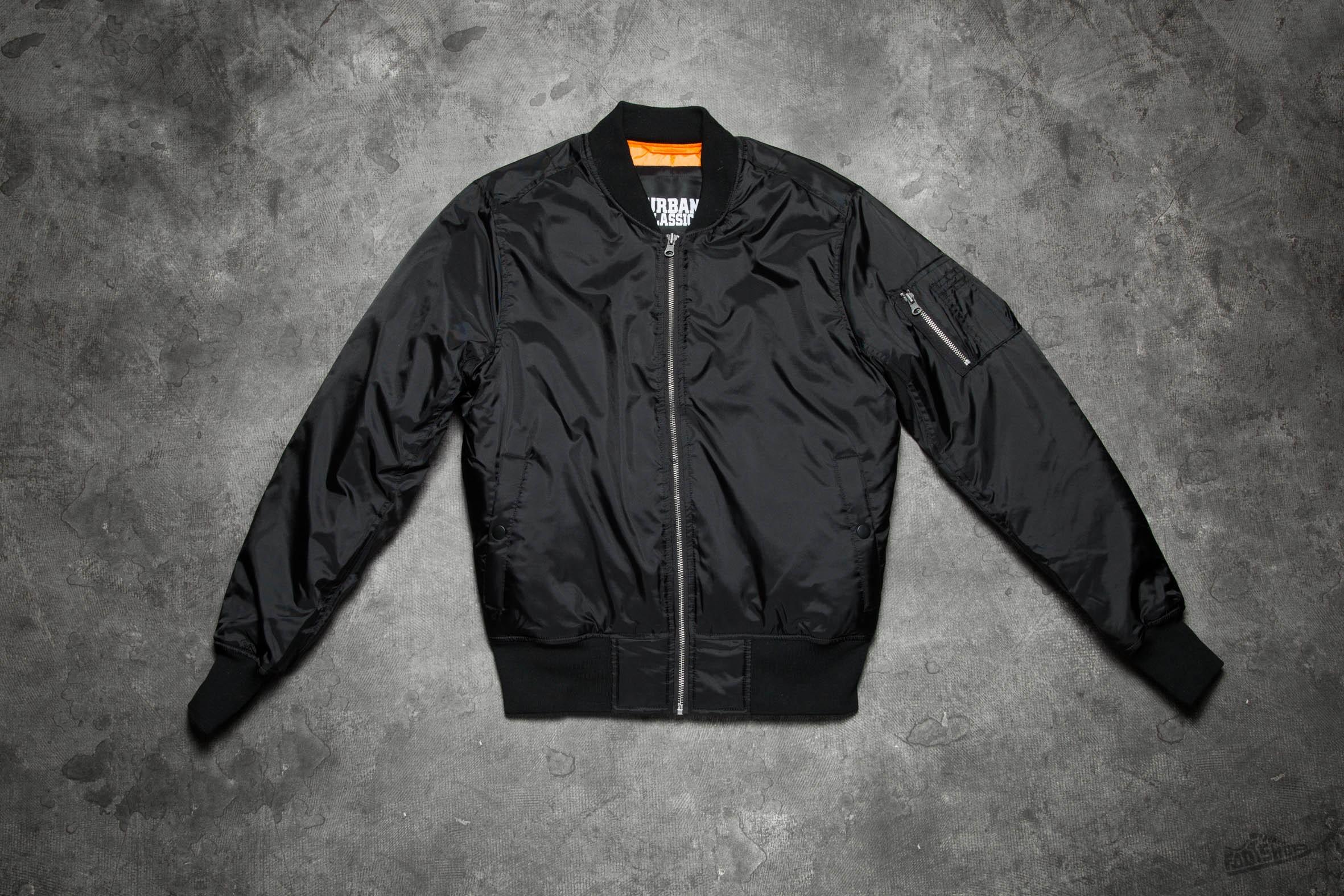 624dbb8f Urban Classics Basic Bomber Jacket Black   Footshop