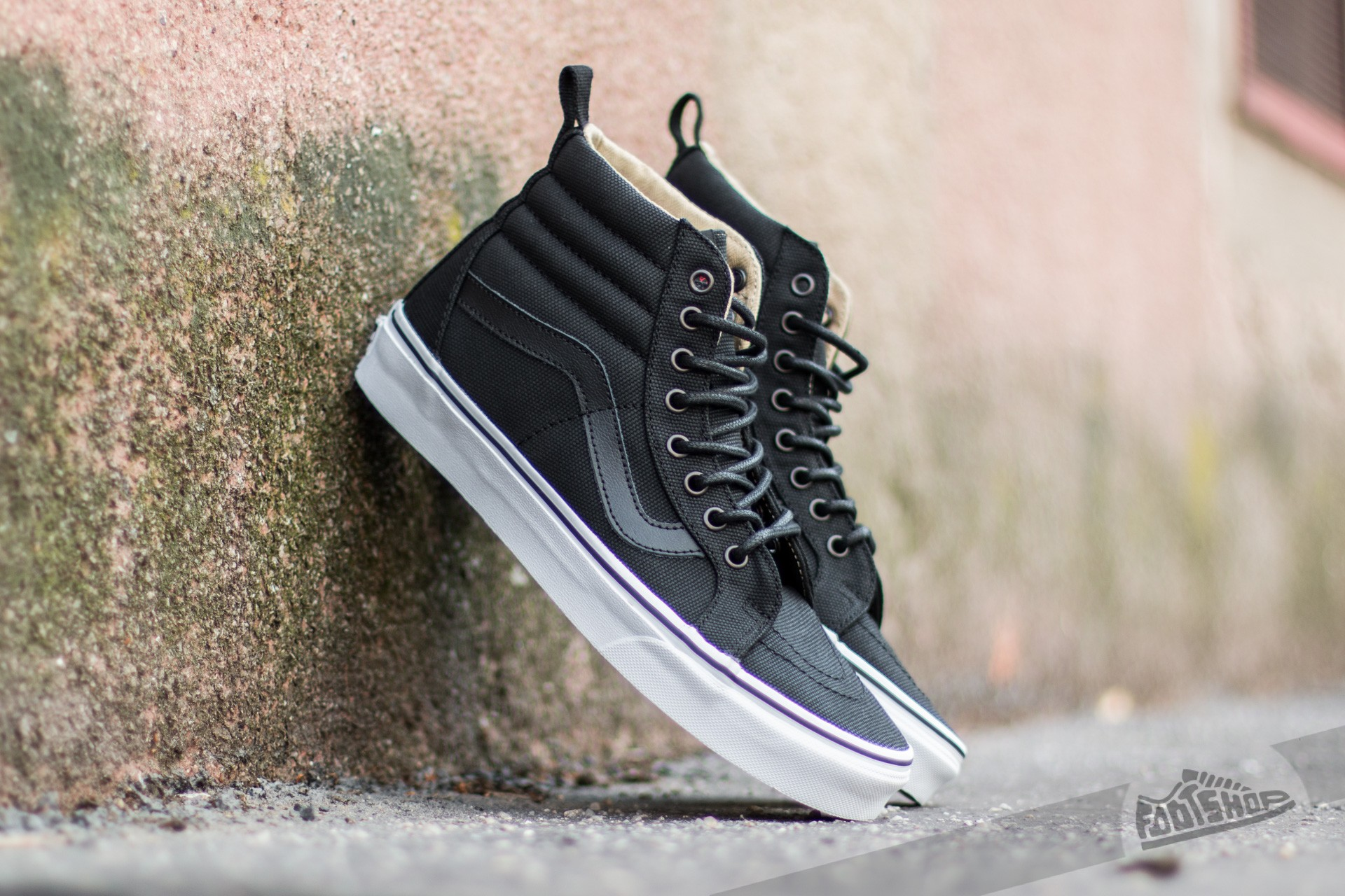 Vans Sk8-Hi Reissue PT (Military Twill) Black  True White  3e03cbdd0