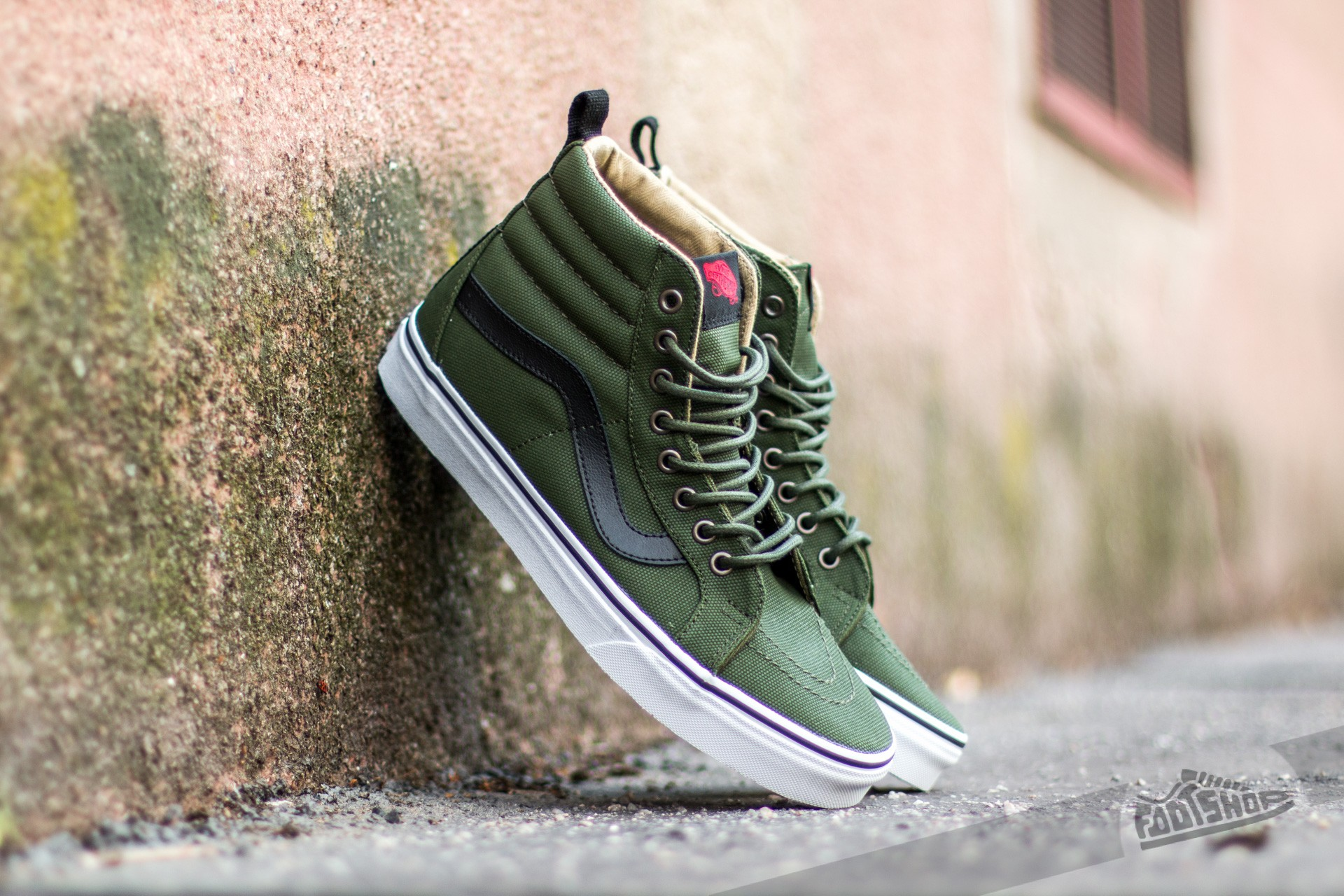 37697a089c1 Vans Sk8-Hi Reissue PT (Military Twill) Rifle Green