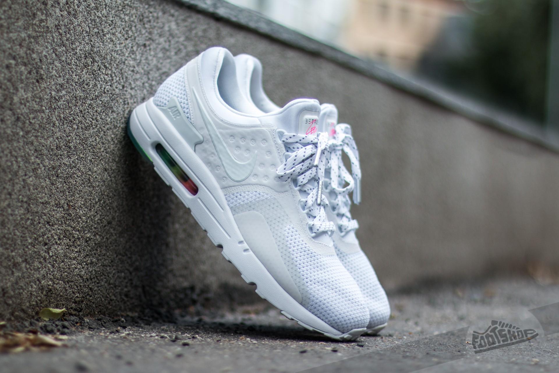 newest fa2ff fec44 Nike Air Max Zero QS White/ White- Pure Platinum | Footshop